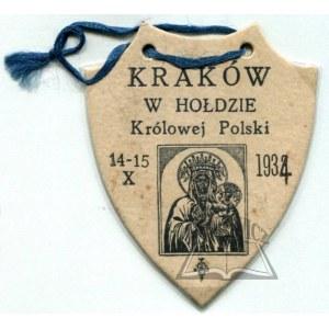 (RYNGRAF) Kraków w hołdzie Królowej Polski. 14 - 15. X. 1934.