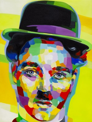 Monika Łakomska, Charlie Chaplin Abstract, 2020