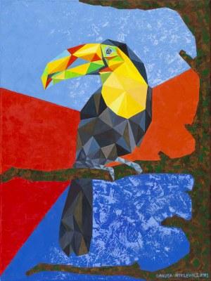 Danuta Niklewicz, Kompozycja z tukanem, 2020
