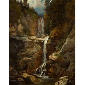Wilhelm Kühling (1823-1888), Jeleń przy wodospadzie
