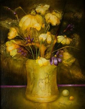Barbara Przyłuska (ur.1958 r.), Żółte kwiaty, 1993 r.