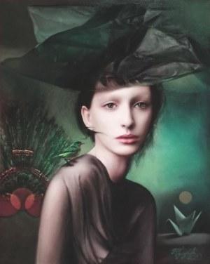 Jacek TYCZYŃSKI, Kobieta z zielonym ptaszkiem 2, 2020 r.