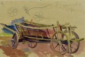 Stanisław Kamocki (1875-1944), Studium wozu, szkice polnego kwiatu, 7 IX 1897