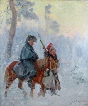 Wojciech Kossak (1856-1942), Żołnierze Wielkiej Armii - Epizod z wyprawy na Moskwę, 1939
