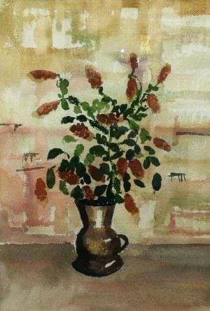 Rafał Malczewski (1892-1965), Kwiaty w dzbanie, ok. 1960