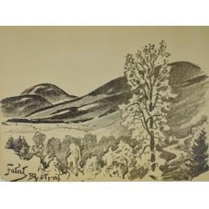 Julian Fałat (1853-1929), Skrzyczne widziane z Bystrej