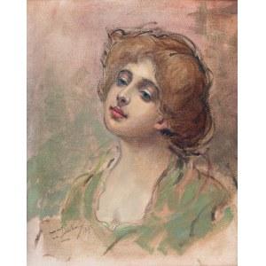 Franciszek Żmurko (1859 - 1910), Portret damy, 1890 r.