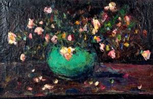 Włodzimierz Terlikowski (1873-1951), Kwiaty w zielonym wazonie, 1924