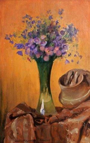 Stanisław Fabijański (1865 - 1947), Bukiet polnych kwiatów, 1913 r.
