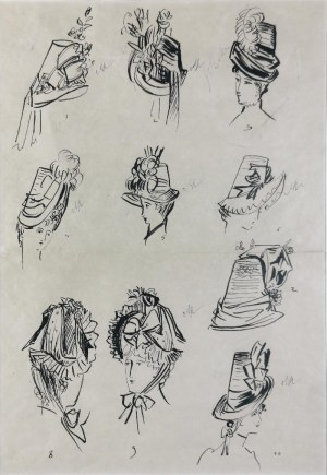 Antoni UNIECHOWSKI (1903-1976), Modnisie - Modele kapeluszy