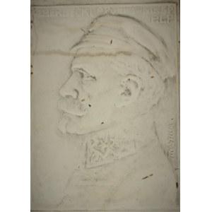 Jan RASZKA (1871-1945), Plakieta z portretem Leona Berbeckiego