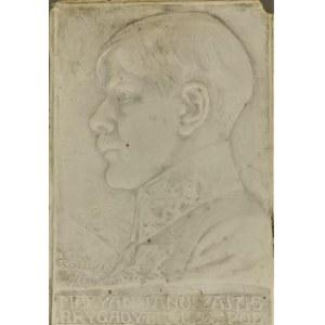 Jan RASZKA (1871-1945), Plakieta z portretem Mariana Januszajtisa