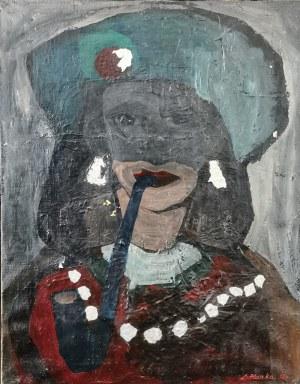 Lech KUNKA (1920-1978), Portret - praca dwustronna, 1953