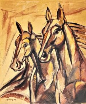 Eugeniusz GERLACH (ur. 1941), Konie, 1979