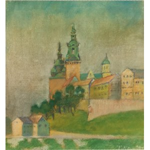 Tadeusz KANTOR (1915-1990), Widok na Wawel / Pejzaż - obraz dwustronny, ok. 1935