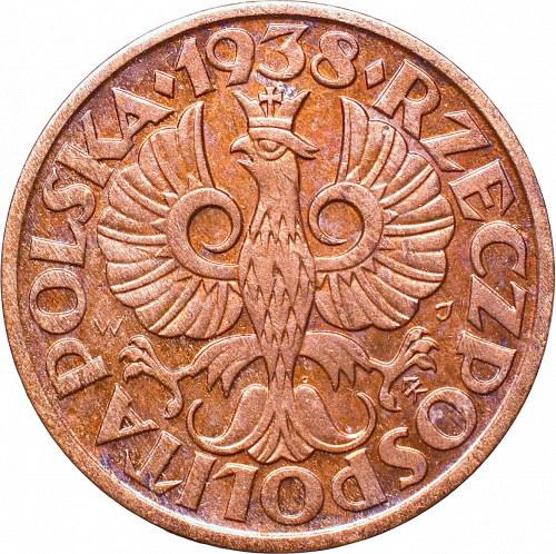 II Republic of Poland, 2 groschen 1938