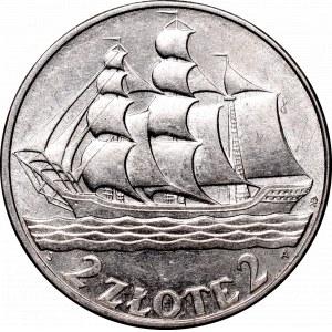 II Republic of Poland, 2 zloty 1936, Ship