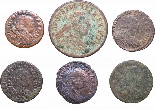 Friedrich August II, Lot of schillings and groschen