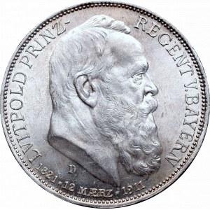 Germany, Bayern, 3 mark 1911