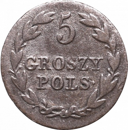 Kingdom of Poland, 5 groschen 1827