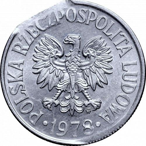 Peoples Republic of Poland, 50 groschen 1978 mint error