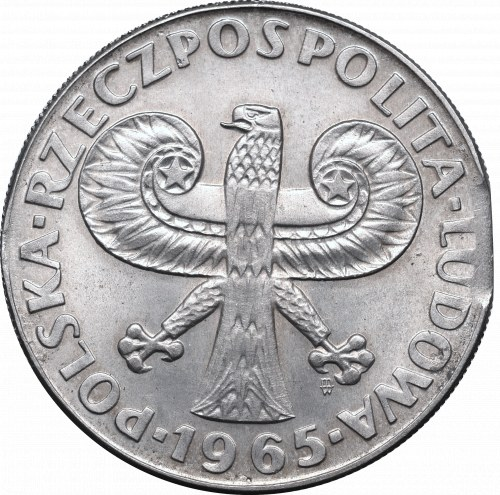 Peoples Republic of Poland, 10 zloty 1965 mint error