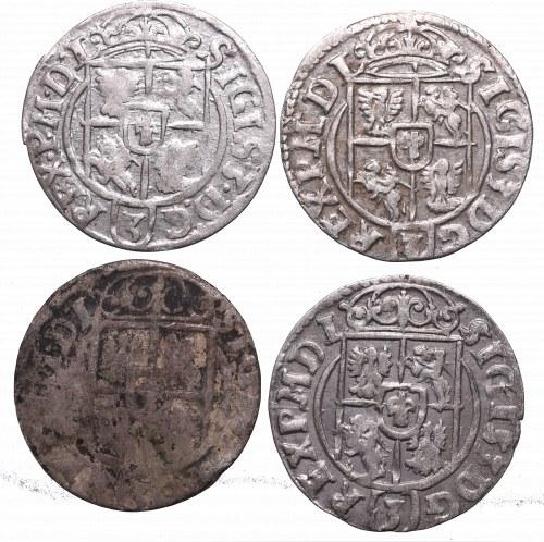 Sigismund III, Lot of 1,5 groschen 1623-1624
