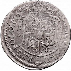 John III Sobieski, 18 groschen 1677, Bromberg