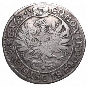 Schlesien, Duchy of Oels, Sylvius Friedrich, 6 kreuzer 1674 SP, Oels