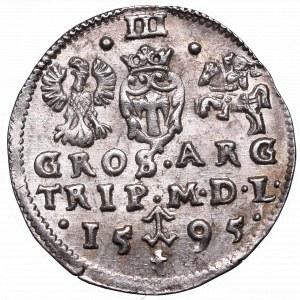 Sigismund III, 3 groschen 1595, Vilnius