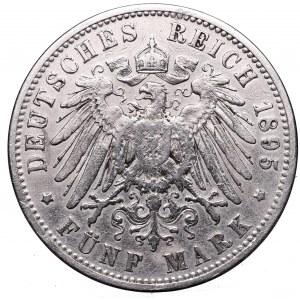 Germany, Preussen, 5 mark 1895