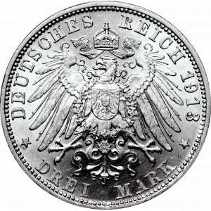 Germany, Bayern, 3 mark 1913