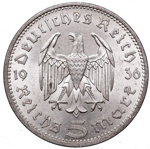 Germany, 5 mark 1936 A Hindenburg