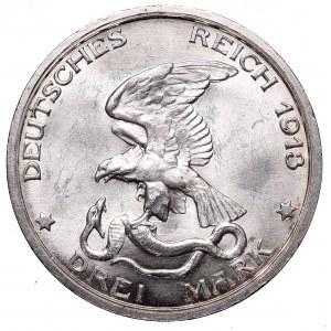 Germany, Preussen, 3 mark 1913