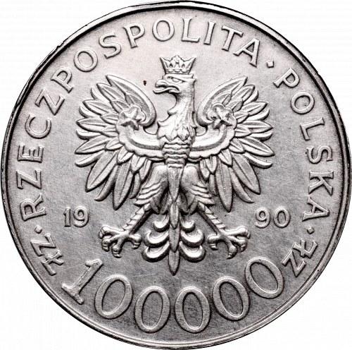 III Republic of Poland, 100.000 zloty 1990