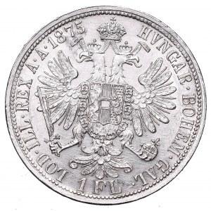 Austria, Franz Joseph, 1 florin 1875