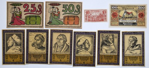 Zestaw 10 notgeldów
