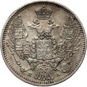 Rosja, Mikołaj I, 10 kopiejek 1849 PA, Petersburg