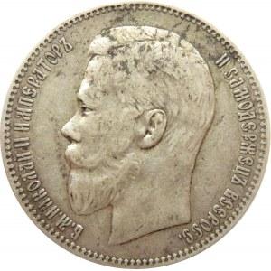 Rosja, Mikołaj II, 1 rubel 1897 AG, Petersburg