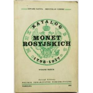 E. Safuta, M. Czerski, Katalog Monet Rosyjskich 1796-1917, Warszawa 1993