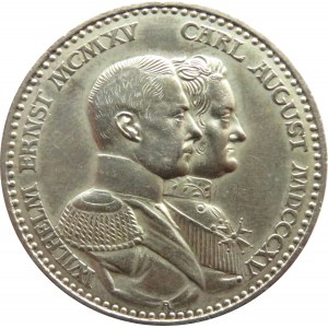 Niemcy, Saksonia-Weimar-Eisenach, 3 marki 1915, piękne!