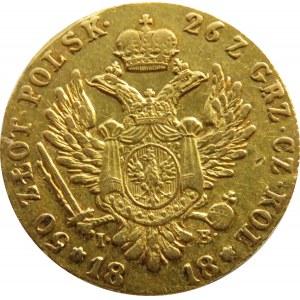 Aleksander I, 50 złotych 1818 I.B., Warszawa, ładne