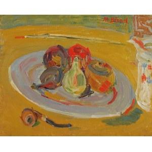 Maurice Blond (1899 Łódź – 1974 Clamart), Martwa natura z talerzem owoców i fajką,