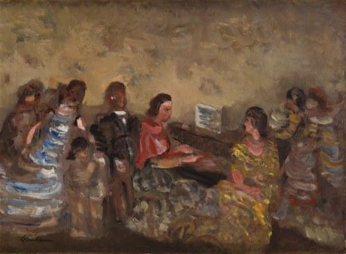 Alfred Aberdam (1894 Lwów – 1963 Paryż) Przy fortepianie