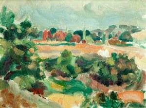 Wacław Zawadowski (1891 Skobiełka/Wołyń - 1982 Aix-en-Provence) Pejzaż prowansalski,