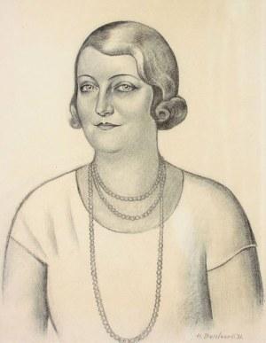 Henryk Berlewi (1894 Warszawa - 1967 Paryż) Portret młodej kobiety z perłami, 1931