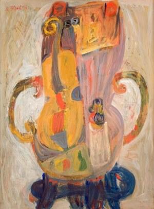 Maurice Blond (1899 Łódź – 1974 Clamart), Martwa natura ze skrzypcami, 1971 r.