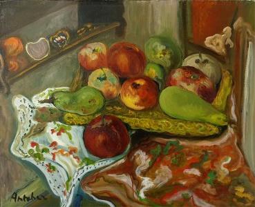 Isaac Antcher ( 1899 Perececina - 1992 Paryż) Martwa natura z owocami