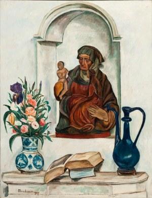 Szymon Mondzain (1888 Chełm - 1979 Paryż) Martwa natura z Madonną, 1927 r.