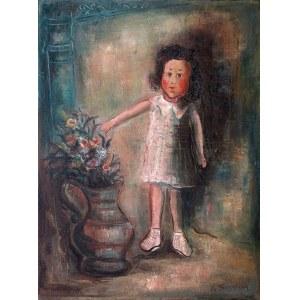 Marc Sterling (1898 Rosja – 1976 Paryż) Dziewczynka z kwiatami